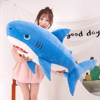 Оптовая продажа фабрики новая акула плюшевая игрушка подушка морское существо большая акула кукла спальня диван украшения