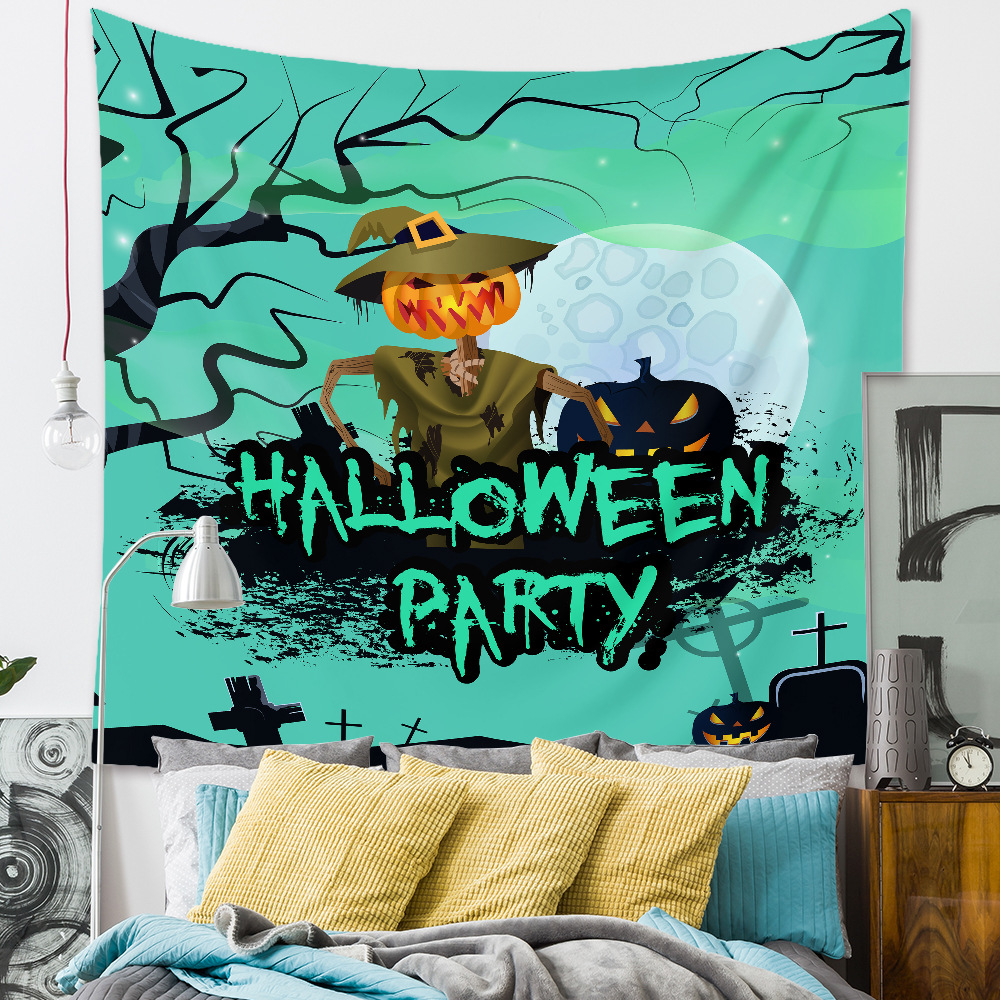 Halloween room wall decoration background cloth fabric painting tapestry wholesale nihaojewelry NHZAJ425087