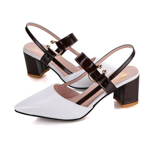 ស្បែកជើងនារី Women Wild Pointed Toe Buckle Roman High Heeled Shoes PZ945408