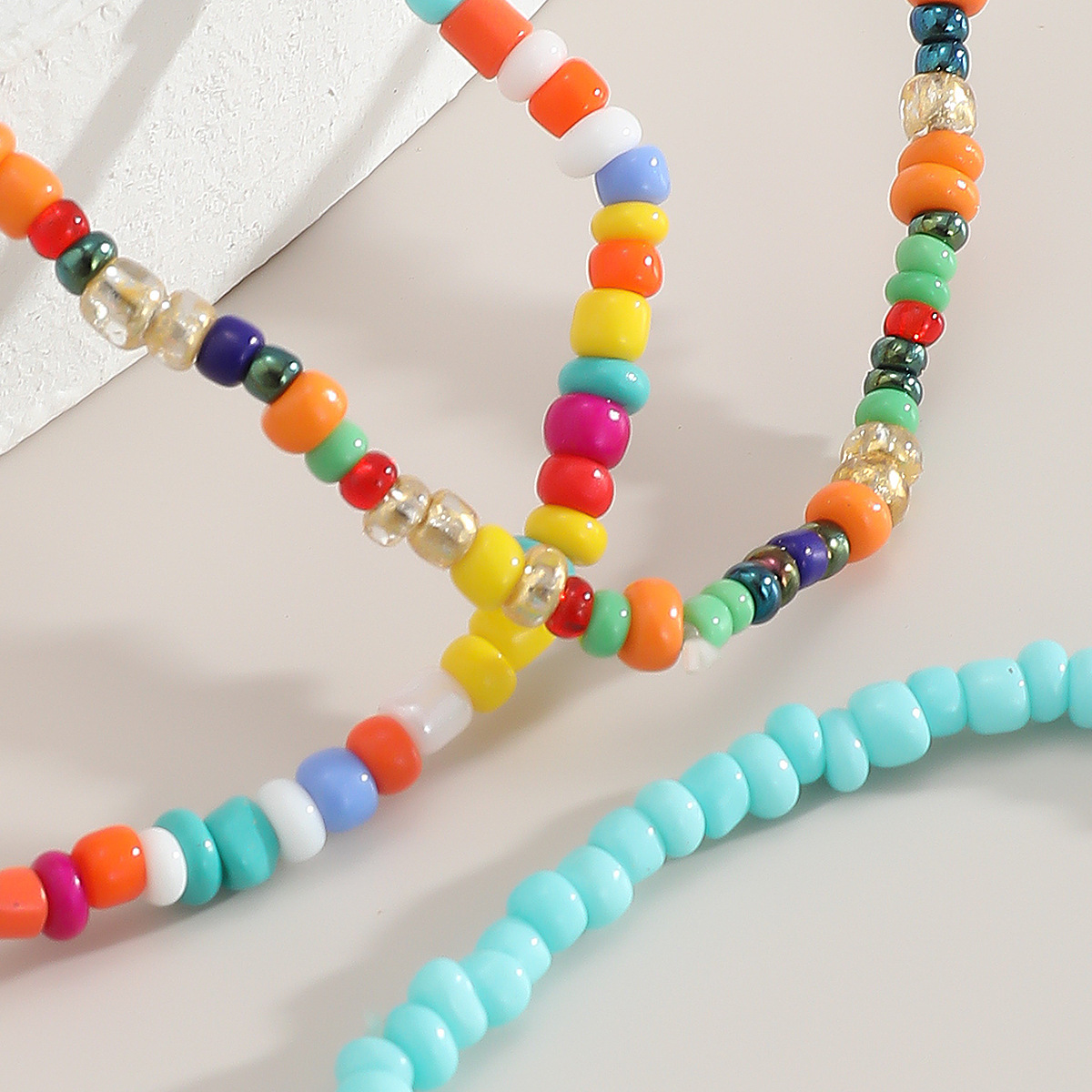 creative and fashionable jewelry bohemian style rice bead set bracelet color jewelry wholesale nihaojewelry NHXR236351