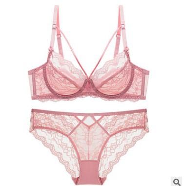 sexy lace ultra-thin no sponge ladies underwear set NSCL9189