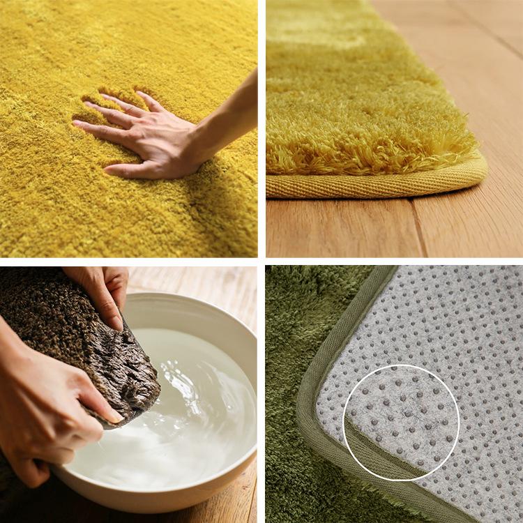 一件代销丝毛地毯圆形地垫 帐篷垫客厅卧室茶几地垫北欧风 宠物垫