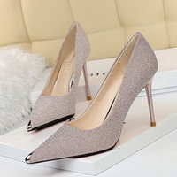6826-1 han edition sexy show thin party shoes with ultra fine with shallow metal point mouth high-heeled shoes women's shoes