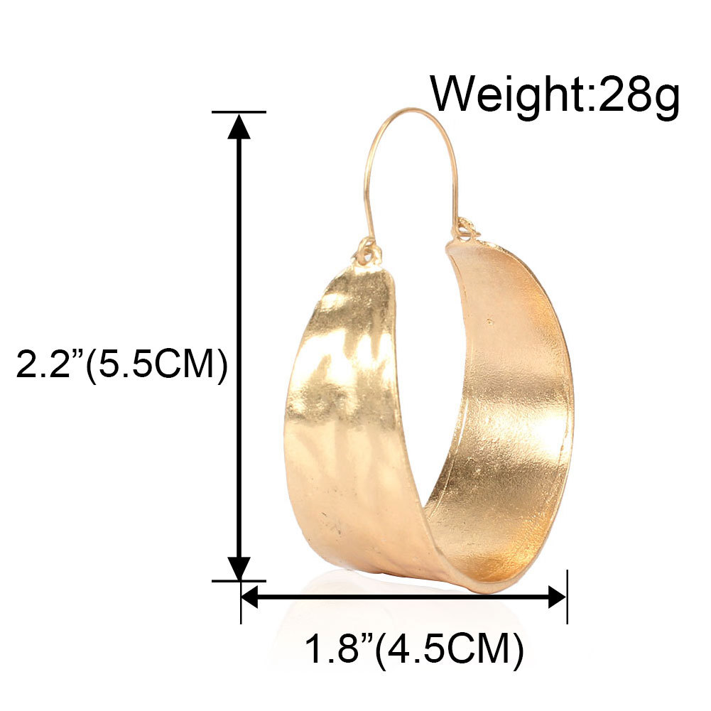 fashion jewelry fashion temperament exaggerated earrings personality simple circle metal earrings wholesale nihaojewelry NHCT223479