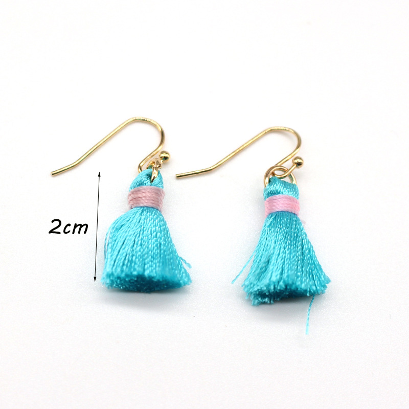 Korean simple tassel earrings short tassel earrings wholesale NHGO204414