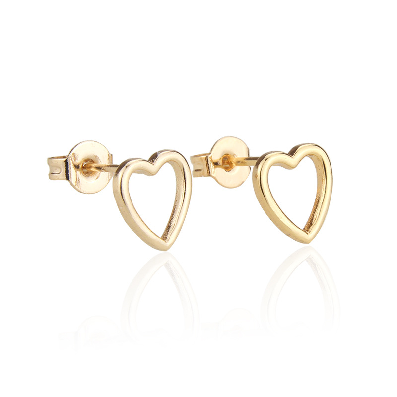 Hot sale Hollow Necklace Set Hot Selling Gold-plated Love Pendant Ear Pin wholesale nihaojewelry NHBP221146