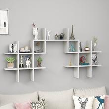 创意墙上置物架壁挂背景墙装饰架实惠耐用隔板吊柜挂柜挂墙架书架