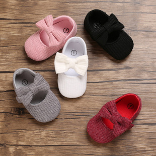 Spring and autumn models 0-1 year old baby toddler shoes soft sole knitted baby shoes all-match princess shoes
