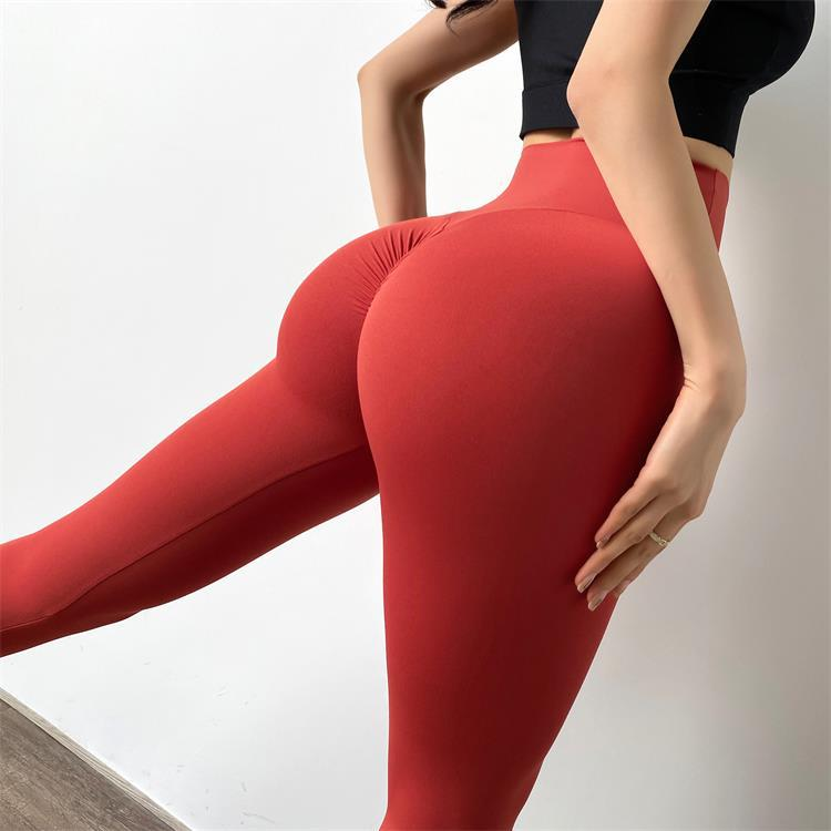 double-sided high waist fitness pants NSMYY55827