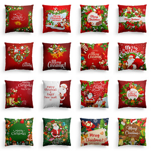 18'' Cushion Cover Pillow Case Christmas Day pillow cover sofa pillow cushion cover customization