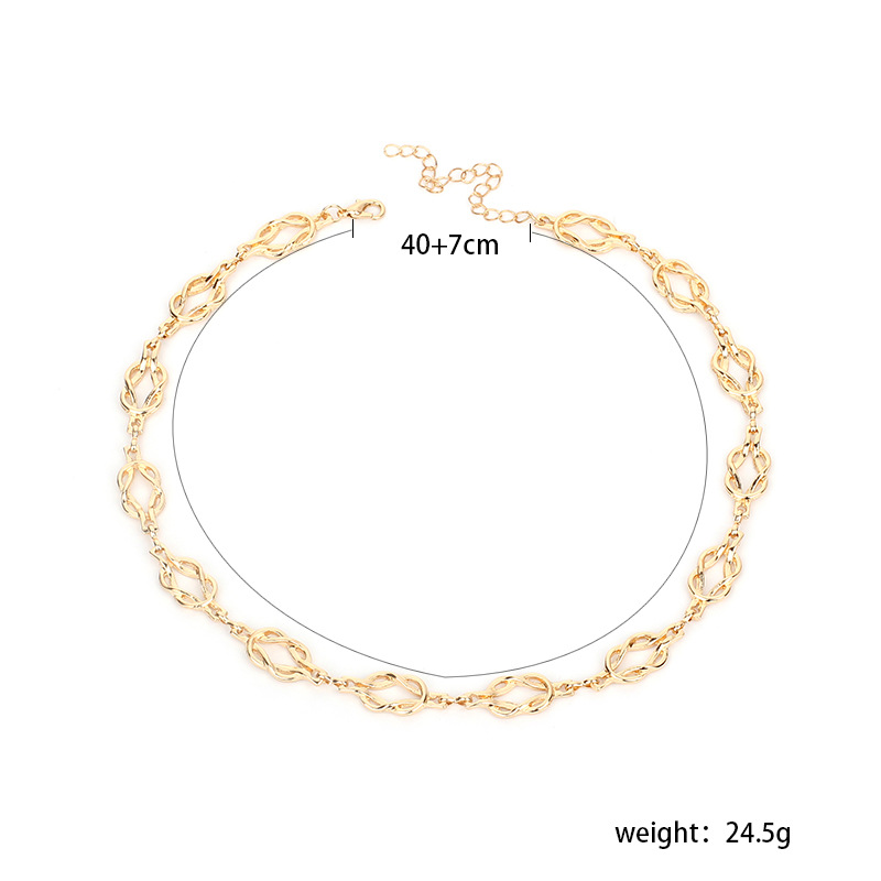 simple new  knot necklace NHRN287589