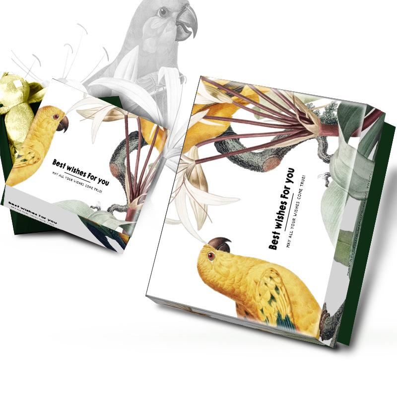 原创设计热带森林天地盖精美礼品礼物盒子包装盒长方形礼盒定制