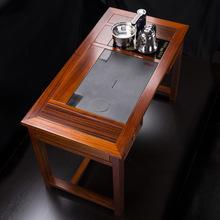 花梨木茶桌椅組合實木茶臺泡茶桌功夫茶幾小號新中式陽臺茶桌功夫
