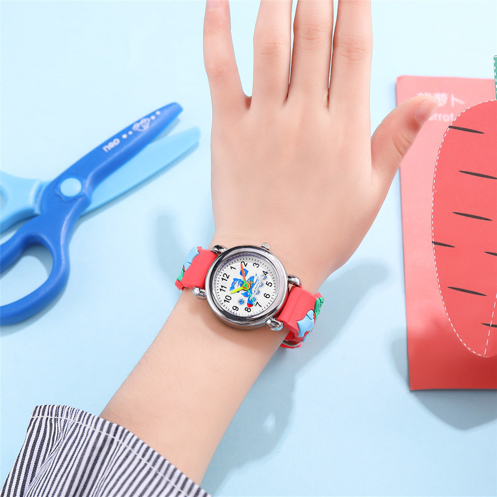 Children's Watch Cute Roller Skate Pattern Plastic Band Quartz Watch Wholesale NHSS200491