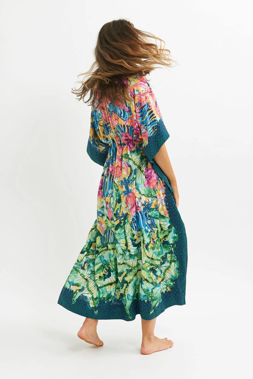 New dark green border beach long skirt loose robe style holiday skirt bikini blouse wholesale nihaojewelry NHXW234883