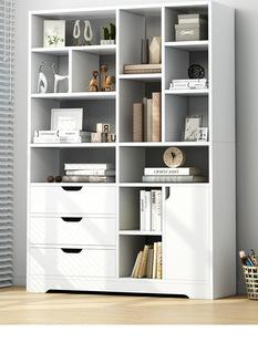 Modern bookcase bookshelf simple floor cabinet living room rack student home storage bedroom storage simple bookshelf