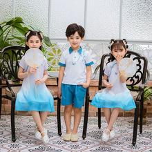 批发幼儿园园服夏装新款中国风小学生校服合唱服班服表演服毕业服