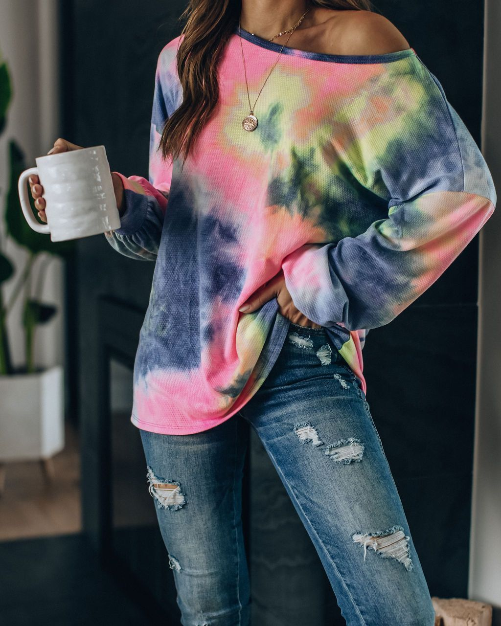 Spring and summer 2020 new European and American home wear leisure two piece set women's summer Amazon long sleeve printed home set