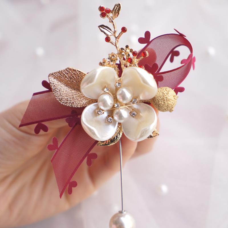欧式森系婚礼高档新娘新郎主婚人父亲母亲结婚胸花嘉宾贵宾创意