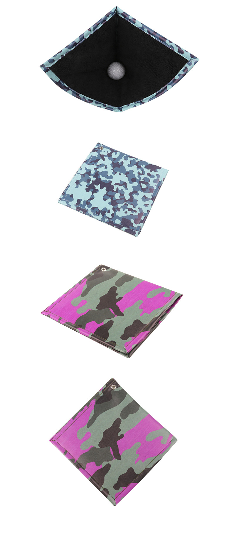 Fashion new Korean trendy golf ball hanging ring wipes camouflage double-sided cotton golf ball wipes nihaojewelry NHBN237957