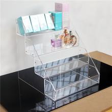 包邮面膜透明盒货架亚克力香水架化妆品收纳整理盒产品展示陈列架