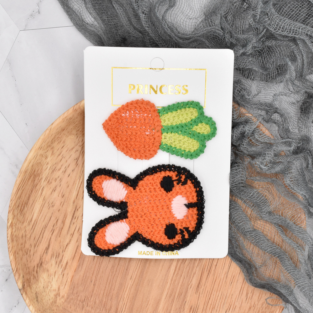 childrens knitted embroidery hairpin set NHCL280657