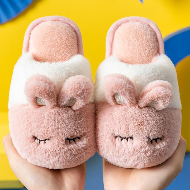 儿童棉拖鞋秋冬季女宝宝卡通公主防滑室内男童小中幼儿保暖拖鞋冬