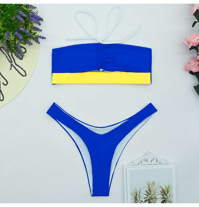 New fashion sexy  Solid Color Hollow Tie Bandeau  bikinis nihaojewelry wholesale  NHHL222030