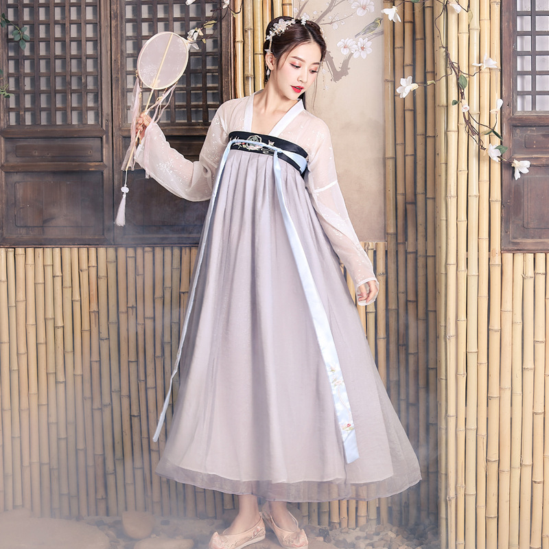 National season embroidery Hanfu fairy Qing student adult retro Hanfu Ru skirt