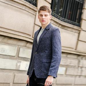 អាវធំបុរស Casual Suit Jacket Male Business Single Western Solid Color Blazer PZ848364