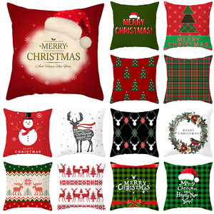 18'' Cushion Cover Pillow Case Christmas pillow cover sofa holiday decoration cushion cover customization