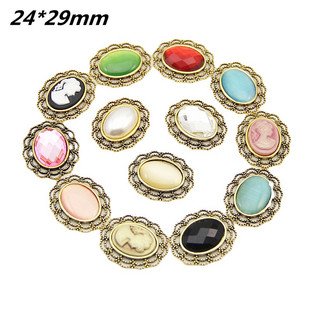 Retro crystal accessories mobile phone beauty hair accessories flower plate diamond buckle hand stick flower DIY jewelry accessories