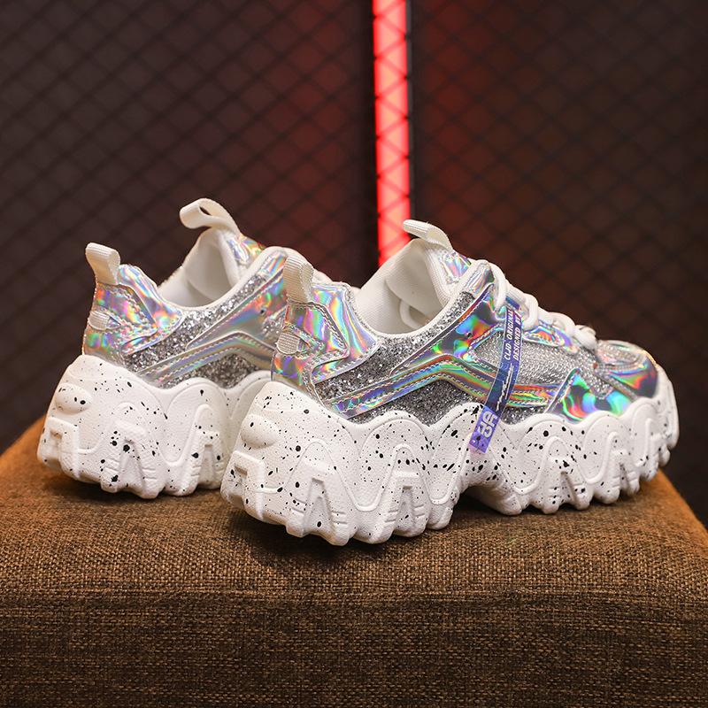 透气鞋女2020女士网鞋夏季休闲运动鞋鞋子女松糕底网布运动休闲鞋