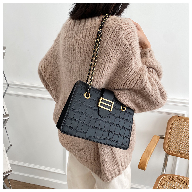 Retro frosted fashion messenger bag  NHLH286001