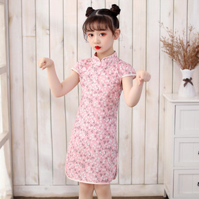 Cheongsam for kids Chinese embroidered children Chinese Dress cheongsam, a lovely girl Chinese Dress Hanfu, a girl Chinese Dress cheongsam