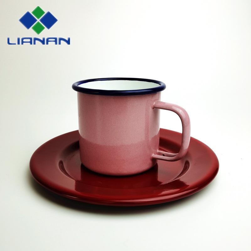 搪瓷盘 搪瓷圆盘 搪瓷杯 搪瓷碟 托盘 可定制 可加印
