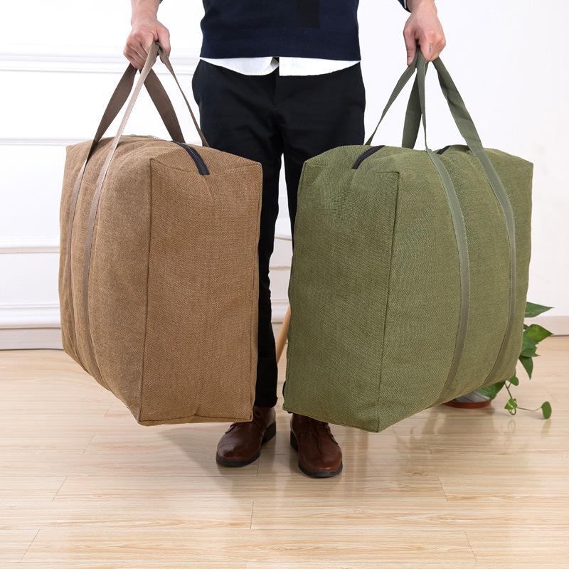 跨境货源帆布搬家袋 衣物收纳行李袋加厚特大容量棉被整理袋定做
