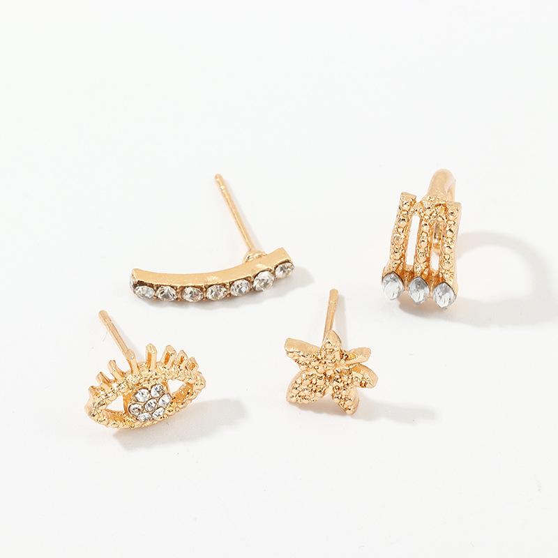 Fashion exaggerated geometric earrings cutout eyes earrings NHNZ198202