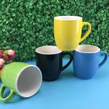 現貨供應280毫升馬克杯可定制logo多色陶瓷杯庫存馬克杯