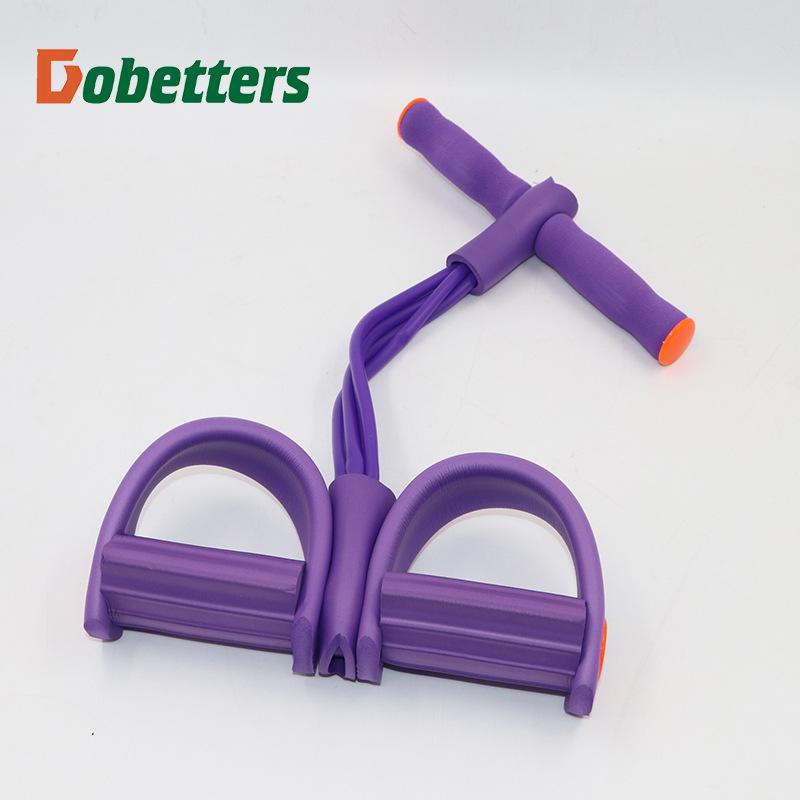 多功能脚踏脚蹬弹力绳拉力绳腿部拉力器仰卧起坐健腹器健腹器厂