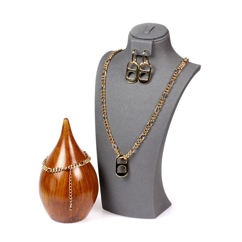 New pig nose earrings punk hip-hop thick chain necklace jewelry set NHPY289199