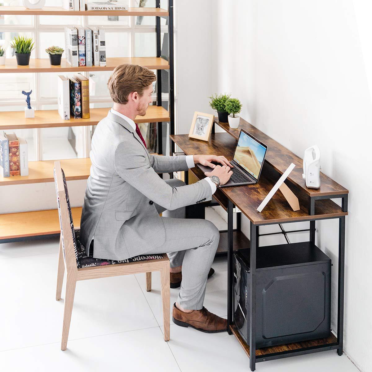 批量定制简约现代电脑桌家用桌办公桌学生桌书架电脑笔记本学习桌