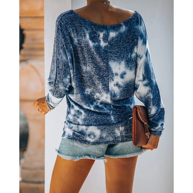 hot style women's fashion printing round neck long sleeve casual suit NSKX5939