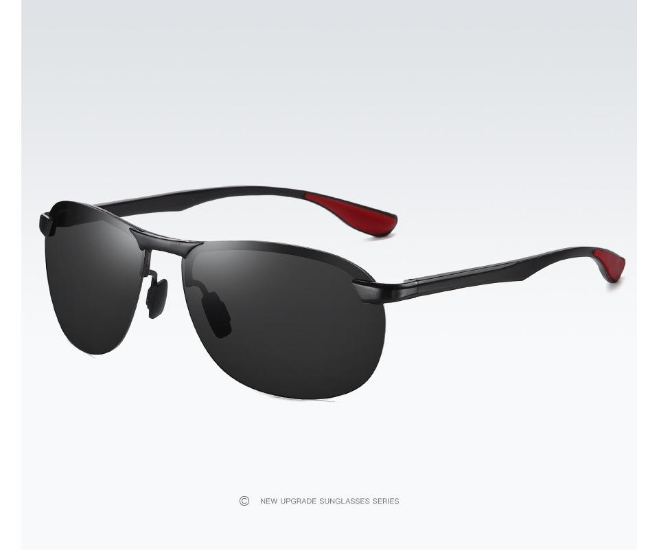 Aluminium Herren Sonnenbrille Polarisiert Fahren Brillen UV400 HD Pilotenbrille