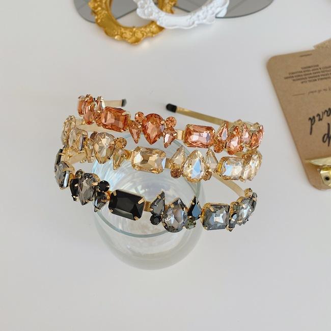 Baroque full diamond rhinestone  retro alloy  headband wholesale NHSM253167