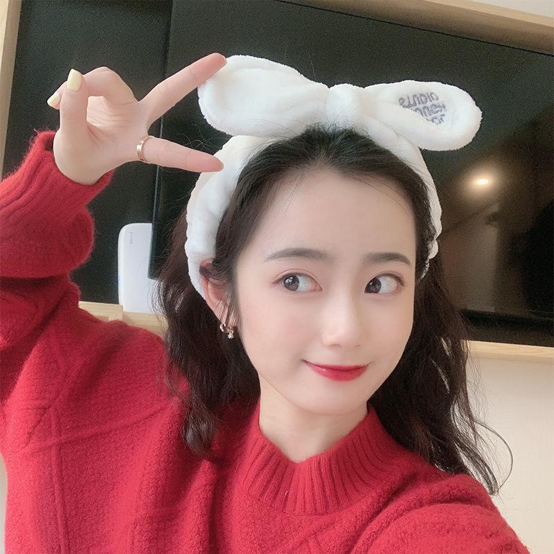 Koreanische Damen Makeup Fliege wilde Plsch Haarband Haarschmuck NHNA263787