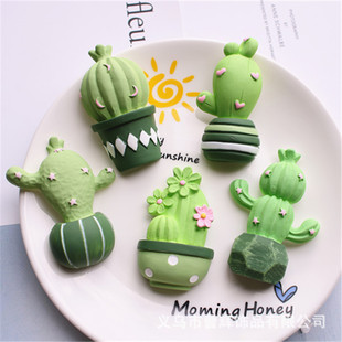 Mouthwash Cup Storage Box Fridge Magnet Handmade Jewelry Material DIY Epoxy Phone Case Accessories Cactus Potted Plant