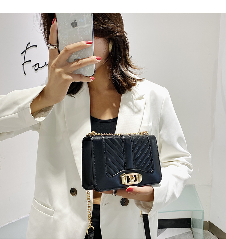 New small bag for women summer new Korean wild chain shoulder messenger bag fashion embroidery thread small square bag NHJZ237926