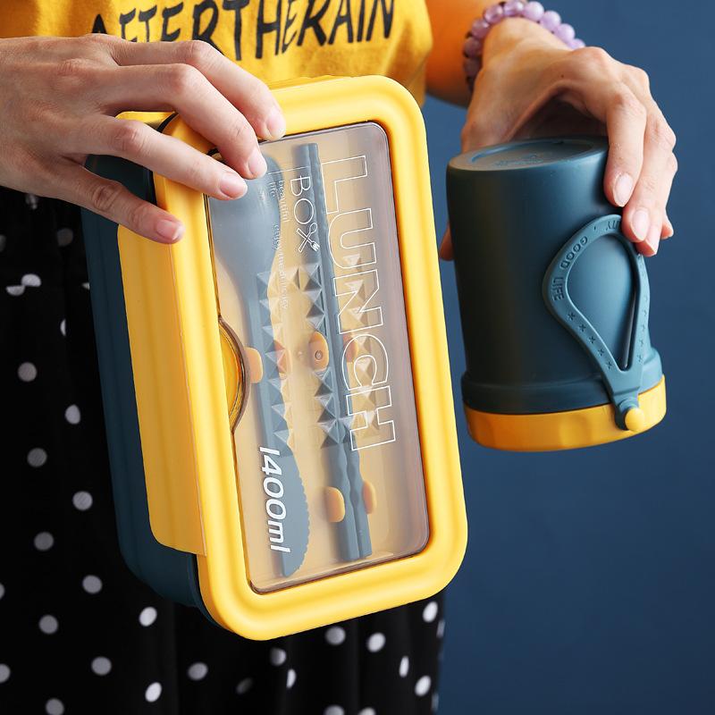 厂家直供 可微波炉日式便携塑料三格便当盒 学生餐盒饭盒批发定制