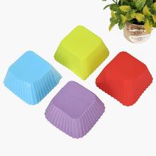 圆形马芬杯烘培工具 硅胶蛋糕模具 diy烘焙模具  硅胶布丁蛋糕模